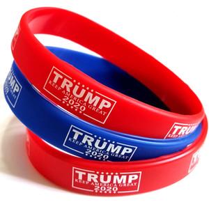 20/50/100 / 200pcs fazer trunfo 2020 América Grande pulseira de borracha de silicone Esporte Wrist Band Trump Supporters Bangles Cuff Mens jóias mulheres