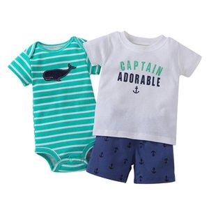 2019 Active Broadcloth Unisex Short Limited Neue Sommer Jungen Kleid Anzug Baby Shorts Kinderkleidung 3 Sätze Von Kleidung Baumwolle Y19050801