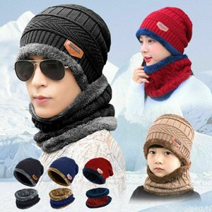 Frauen der Männer Winter-Schal Beanie Warme Fleece Set Hut Ski-Wärmer Ansatz Kappen Knit Hot