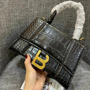 Hottest Brands Recommend Women's High-end Handbags Designer Crocodile B Magnetic Arch Shoulder Bag Fashion Hourglass Briefcase Free Shipping