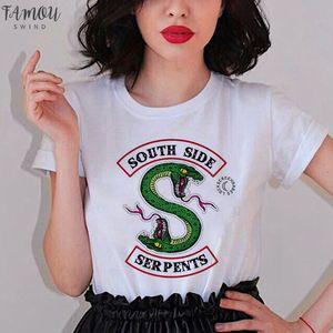 Showtly Riverdale Tv femmes T-shirt Pops Chocklit Shoppe T-shirt femmes Sumemr Taille Plus O Neck Tee Tops