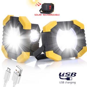 Dreamburgh USB portátil Trabajo Reflector Linterna camping luz de la lámpara de 50W solar recargable del LED Reflector Spotlight