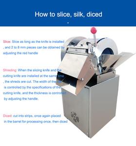 2020 multifonction en acier inoxydable haute efficacité machine de découpe automatique végétale machine trancheuse végétale Dicing machine 1500W
