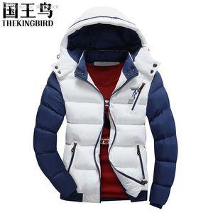 Fall-Men's jackets Men's 2016 winter cotton jacket The new men's Fashion Casual thick padded Down jacket detachable Cap Coat95