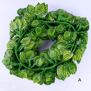 atacado 220 centímetros Artificial folhas verdes Outro Boston Ivy Vine Decorado falsificação flor Cane 90 sai de casa decoração de jardim