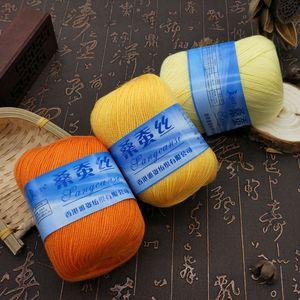 Di trasporto 300g (50g * 6pcs) seta filato di bambù del filetto per mano maglieria all'uncinetto Uso In primavera e in autunno cappotto Canotta
