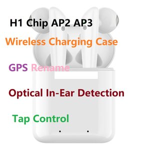 GPS Rename AP2 AP3 Mini TWS Bluetooth Earbuds H1 Chip de carregamento sem fio Caso Air Optical In-Ear Detection Não Pods 2 3 Pro i200 i12 i9 i500