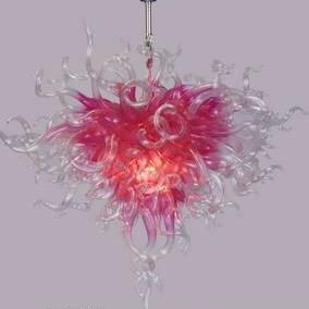 Горячей Продажа свадебной Люстра Light Art Decoration Romantic Pink Glass Люстра Привлекательный Deft дизайн Художественная Современная Люстра Light