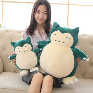 Large plush anime soft stuffed animal doll cartoon cute Snorlax plush toy children comforting doll girl birthday gift