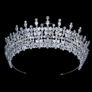 Diadèmes et couronne Hadiyana Torgeous tempérament de Cheveux De Mariage Accessoires zircon BC3949 Princesa Accesorios para el cabello