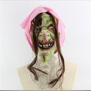 Cadılar bayramı Bar Perili Ev Balo Sahne Çürük Yüz Evil Kötü Kötü Eski Cadı Maskeleri Evil Ruhu Yüz Maskesi