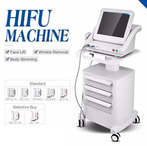 Medical Grade HIFU hohe Intensität fokussierter Ultraschall HIFU-Face Lift Maschine Falten entfernen mit 5 Köpfen für Gesicht und Körper UPS-freies Verschiffen