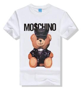2019 Fashion LuxuryMoschino Конструкторы Футболка Hip Hop White Mens Одежда Повседневная футболки для мужчин с Letters Printed TShirt Размер S-3XL
