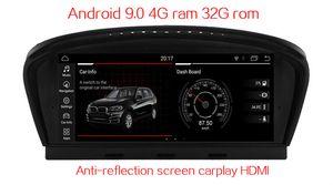 """مكافحة شاشة Carplay HDMI 4GB رام 8.8 """"أندرويد 9.0 سيارة الصوت للحصول على BMW E60 E61 E63 E64 M5 2004-2010 GPS راديو ستيريو مقاطع فيديو رئيس وحدة الوسائط المتعددة"""