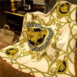 Утолщение бренда V одеяло золото черный 150x150 см для кровати диван роскошная 3D печать каретка и цепочка шаблон вывески H теплое одеяло шаль