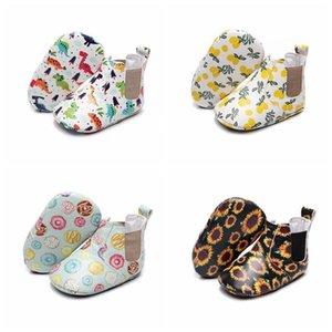 Kid Girls Boy First Walkers Soft Infant Toddler Shoes PU Cute Flower Soles Crib Shoes Footwear for Newborns babyR68P#