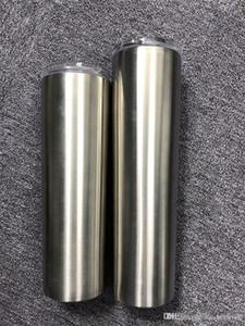 30 onças magro Tumbler 30oz magro Cup com tampas e palhas de parede dupla com isolamento de aço inoxidável rectilínea Cup Grande Capacidade