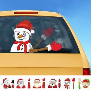 2019 Новый универсальный Рождество Заднее лобовое стекло Santa Window Переводные картинки автомобиля стеклоочиститель стикер Xmas Смешной Креативный ветрового стекла Стеклоочиститель Covers