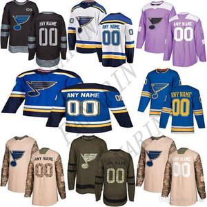 2020 뉴스 세인트 루이스 블루스 hockeyjerseys 여러 스타일 남성 사용자 임의의 숫자 하키 유니폼 모든 이름