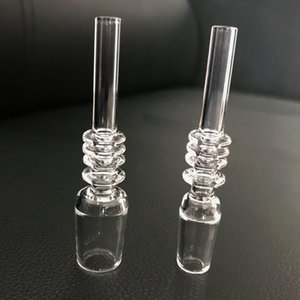 10mm 14mm 18mm Quartz Tip With Keck Clips For Mini Nectar Collector Kits Quartz Tips For Glass Water Bongs Pipes Dab Oil Rigs