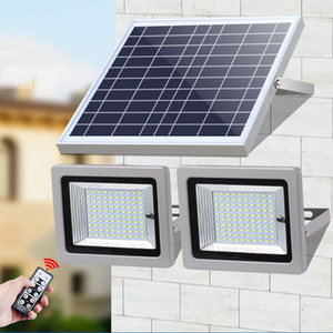 Double Heads Led Solar Floodlight 60LEDs 126LEDs 160LEDs 200LEDs Waterproof IP65 Outdoor Garden Street Flood Light with remote control