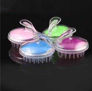 Massaggiatore il nuovo disegno Scrub Sili del silicone Shampoo pennello personalizzato Scalp Shampoo Capelli spazzola stampa floreale shampoo e massaggio del cuoio capelluto