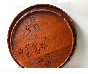 50pcs Tea Food Oriental Vintage Food Tea Wooden Tray Serving Platter Plate Kitchen Gadget For Milk Pizza