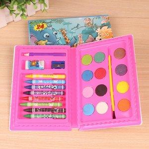 24pcs Watercolor Pen Art Supplies School Crayon Pigment Drawing Artist Kids Gift Student Professional Combination Painting Set