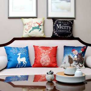 Christmas Led Pillow Case Square Sofa Car Cushion Cover Light Decorative Throw Pillows Cases Soft Cover 45*45cm ZZA1194