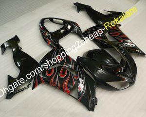Custom Fairings Fit 2006 2007 ZX-10R For Kawasaki ZX10R 06-07 Popular Flame Motorbike Fairing Set (Injection molding)