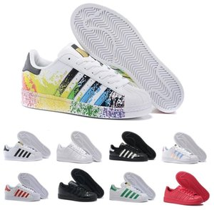 Super Star White Hologram Iridescent Junior Superstars 80s Pride Mens Casual Air Designer Womens Dress Trainers Zapatillas Zapatos Shoes