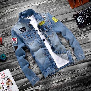 2019 designer Men Jacket Spring Autumn Fashion Hip Hop Distressed Ripped Casual Men Denim jackets Long Sleeves Thin Coat wholesale