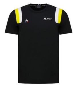2 الألوان رينو F1 2020 فريق Fanwear قميص بأكمام قصيرة دراجة نارية التجفيف السريع تي شيرت البوليستر التجفيف السريع المادية