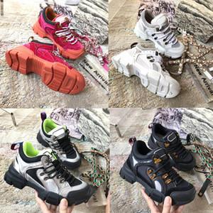 2019 New Designer Diamond baskets baskets en cuir Flashtrek avec entraîneur amovible pour femmes Chaussures d'escalade en montagne Hommes Bottes de randonnée en plein air