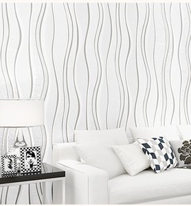 Luxury white modern Style Wallpaper Home Decor Striped Damask 3D Wall Paper Rolls For Bedroom Living Room