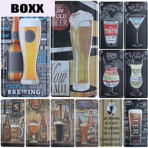 New Cocktail Beer Group Plate Metal Plate Car Number Tin Sign Bar Pub Cafe Home Decor Metal Sign Garage Painting Plaques Sign