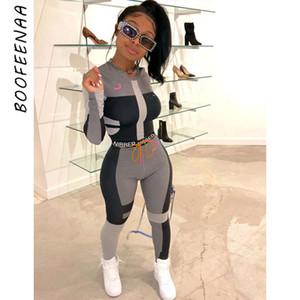 BOOFEENAA Autunno Inverno Sexy Tuta donne due pezzi Outfits Sport fitness a vita alta Leggings set di prodotti abbinati Sweatsuit C87-AD60