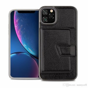 For Samsung S10 E 5G S9 S8 Plus Note 9 J3 J7 2018 Card Slot Design Comfortable Touch Dual Layer Hybrid Case
