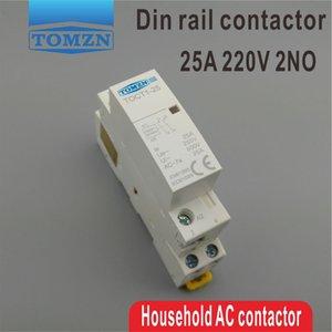ac CT1 2P 25A 220V/230V 50/60 Гц Din-рейка бытовой модульный контактор переменного тока 2no модульный контактор