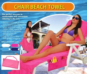 Beach Chair Cover With Pocket Strap Blanket Portable Quick-Dry Microfiber Double Layers Beach Chair Towels Sunbathe Lounger Mate Bed covers