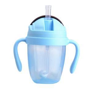 300ml PP Ausbildung Absaug- Straw Wide Mouth Fütterung-Flaschen-Cups Leakproof Non Toxic Milch bewegliches Wasser Babys mit Griffen
