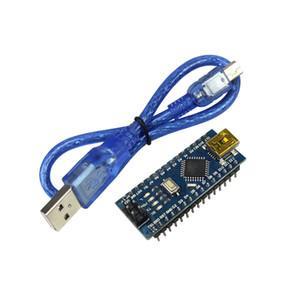 Nano 3.0 Mini USB Driver ATmega328 5 V 16 M Micro Controlador Nano CH340 V3.0 para arduino Kit Diy com Cabo USB