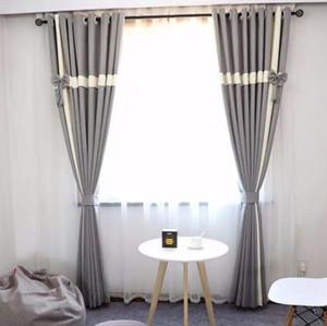 2019 1pair Nordic винтажные шторы из высококачественного сплошного лука Высококачественные шторы, удлиненная (280см = 110 дюймов) домашняя витрина Блок световой завесы