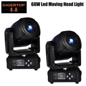 2xlot Mini Spot 60w Led Moving Head Light With Gobos High Brightness Dmx512 Dmx 10  15 Channels Professional Led Stage Light