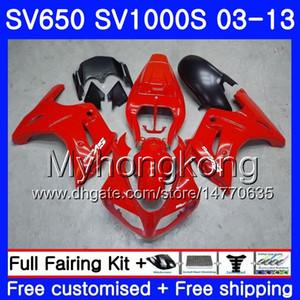 Кузов завод Красный Черный для SUZUKI SV650 SV1000S SV650S 03 04 05 06 07 08 308HM.3 SV 650S 1000 S 1000S 2003 2004 2005 2006 2007 2008 обтекатель