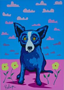 Джордж Rodrigue голубой собаки You Make My Landscape Happy Home Decor расписанную HD Печать картины маслом на холсте Wall Art Canvas картинки 200115