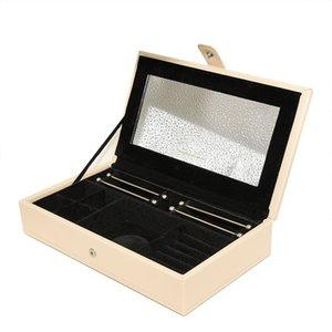 Fashion for Pandora jewelry box bracelet earrings necklace storage box high quality temperament classic jewelry big leather