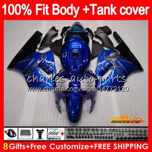 Injeção para a Kawasaki ZX 12R ZX1200 1200cc ZX12R 02 03 04 05 06 52HC.41 ZX 12 R ZX12R 2002 2003 2004 2005 2006 OEM Carenagens chamas azuis