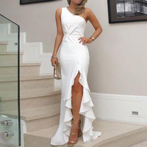 JAYCOSIN 2019 новое летнее женское платье одно плечо Ruched рябить формальное вечернее платье тонкий Макси длинные платья vestidos Z827