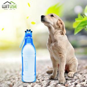 Yaratıcı Taşınabilir Pet Köpek Kedi Açık Seyahat Su İçme Şişe Dağıtıcı 350 / 600ml BPA Free Plastik Evcil Ürün